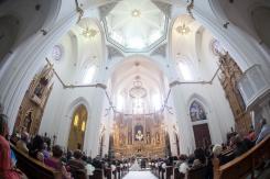 Fotografía de boda en Benisa, catedral de la Marina